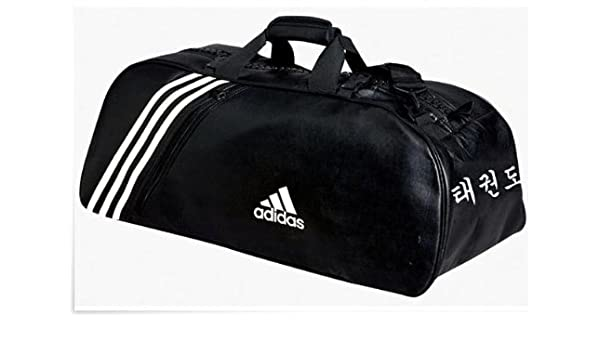 d05214c505f0 ADIDAS adiACC051 Large Sports Bag with Writing TKD   Taekwondo Artificial  Leather Polyurethane Black with Rucksack Function  Amazon.co.uk  Sports    Outdoors
