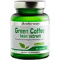Anderson Green Coffee Suplemento Alimenticio de Café Verde - 60 Cápsulas