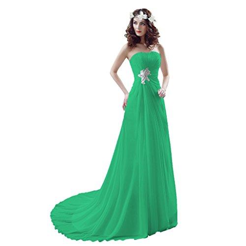 Vimans - Robe - Trapèze - Femme Vert 1
