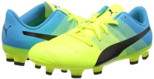 Puma Unisex-Kinder Evopower 4.3 Firm Ground Junior Fußballschuhe Yellow (Yellow/Black/Blue)