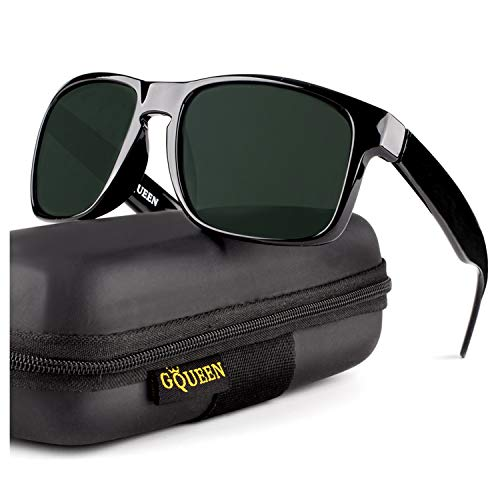 GQUEEN Klassische Sonnenbrille Herren Polarisiert Herren Damen Sonnenbrille TR90 UV400 Schutz MFZ3
