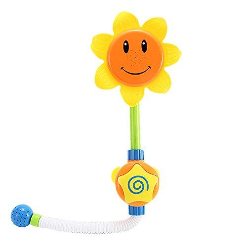 Samtlan Baby Badespielzeug Yellow Duschspielzeug Sonnenblume Sprayer Badewanne Wasserspiele für Kinder