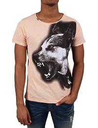 """Cipo & Baxx Herren T-Shirt """"C-5339"""" salmon"""