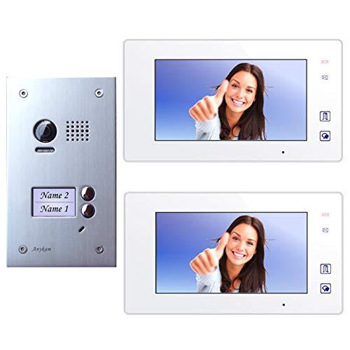 Video-Türsprechanlage/2-Draht/2-Familienhaus mit uP-Türstation und Touch-Screen Monitoren