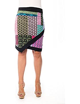 Falda Catania CS17-154 - Falda de tubo de la marca Chocolate - Estampado geometrico - Falda de verano