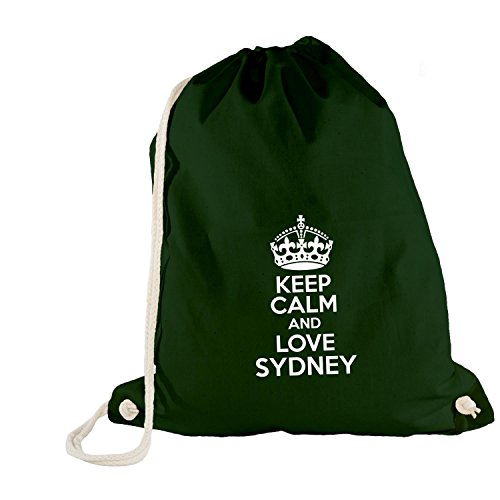 sac-de-gym-keep-calm-and-love-sydney-mal-du-pays-idee-cadeau-australie-vert-one-size