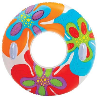 97Cm-Intex-Inflatable-Swim-Ring-With-Handles-Vivid-Flower