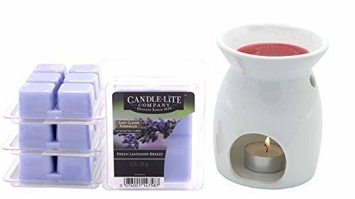 Set Tee-Licht Warmer Sabie & FRESH LAVENDER BREEZE Duftwürfel - Wärmer Duftlampe