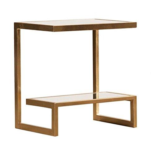 C-J-Xin Canapé table d'appoint Table basse Flower Stand, multifonction en métal Matériau Design créatif Salon Chambre Balcon Stand de fleurs (taille : 35 * 50 * 55CM)