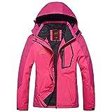 HUIHUI Damen Bekleidung Damen jacken Herbst wintermantel rot Winter Warm Winterjacke (Pink,L)