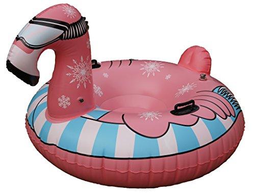 HPT Snow Tube/Rutschreifen / Schlitten im Flamingo Design aufblasbar