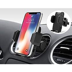 Foneso Soporte de Teléfono Móvil para Coche, Soporte Celular Universal para Rejilla Ventilación con Rotación 360 Grados y Abrazadera Ajustable para iPhone XS MAX/XR/X Samsung S10/S9/S8 Huawei P30pro