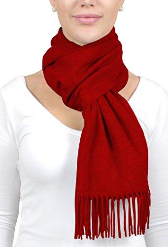 ADAMANT® Climasoft Schal Damen in Rot   MADE IN GERMANY   viele verschiedene Farben, 180cm x 30cm - Modischer Schal für Business und Alltag