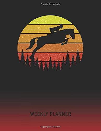 Weekly Planner: Horse | 2020 - 2021 | Plan Weeks for 1 Year | Retro Vintage Sunset Cover | January 20 - December 20 | Planning Organizer Writing ... | Plan Days, Set Goals & Get Stuff Done -