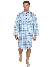 30b15200da Cargo Bay Mens Check Stripe Print Flannel Nightshirt