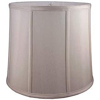 American Pride Lampshade Co. 74-78090510A Round Soft Tailored Lampshade, Shantung, Croissant