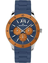 Jacques Lemans Sports Unisex-Armbanduhr Rome Sports Analog Silikon 1-1691O