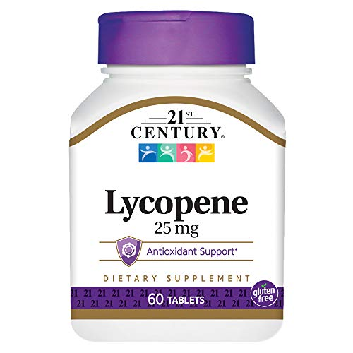 21st Century Health Care, Lycopene, Maximum Strength, 25 mg, 60 Tablets
