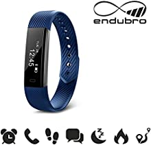 endubro W33/ID115 - Pulsera Fitness / Fitness Tracker / Smart Bracelet / reloj inteligente con pantalla OLED y Bluetooth 4.0 para Android y iOS - Podómetro, Seguimiento del Sueño, notificaciones llamadas/SMS y WhatsApp/Facebook con Android y iOS