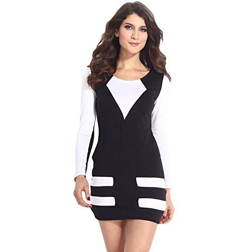 Mini robe élastique avec manches Noir