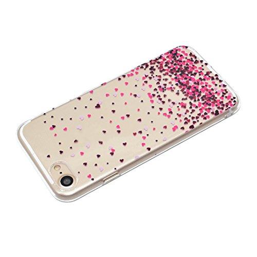 iPhone 6 Plus Bumper, iPhone 6s Plus Hülle Silikon, iPhone 6S Plus Hülle Silikon, Moon mood® Telefon Schale Gemalt Reliefs TPU Silikon Handyhülle Schutzhülle Case für Apple iPhone 6 Plus/6S Plus 5.5 Z Liebe