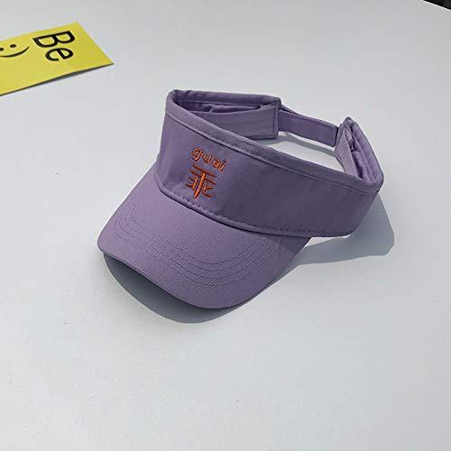 Sombrero de Copa vacío para bebé, Protector Solar súper Lindo, Gorra en Topless al Aire Libre, Gorra de béisbol para niños y niñas, Sombrero para Sol para niños, púrpura, 50-52 cm