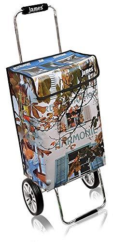 James Einkaufstrolley Design HARMONY deluxe, moderner Einkaufswagen, bunter Lifestyle Shopper, Trolly, Rollkoffer, 40kg Tragkraft, klappbar, made in EU!