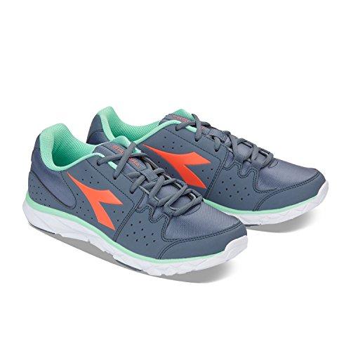 Diadora Hawk 8, Chaussures de Running Compétition Homme C6908 - STONE GREY-CORAIL ROUGE
