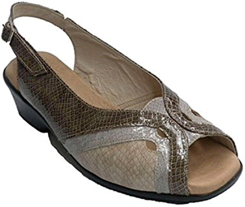 Roldan Pelle di Serpente Sandalo Combinato in Tre tonalità Vari Coloreei | Nuovo Prodotto  | Gentiluomo/Signora Scarpa