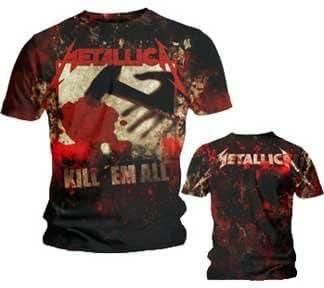 Metallica T-Shirt - Kill Em All AO - Metallica Shirt F & B Allover Print !!