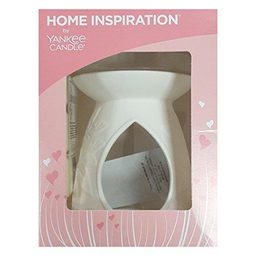 Offizielles Yankee Candle Home Inspiration mit Love Schmelzen Wärmer Starter-Pack Geschenk-Set inkl. Wachs Cubes & geruchloses Teelicht