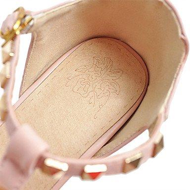 LvYuan Sandali-Formale Casual-Cinturino-Quadrato-PU (Poliuretano)-Nero Rosa Beige beige