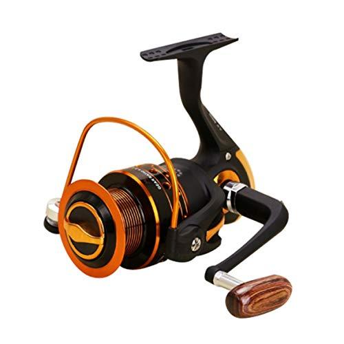 Noradtjcca Spinnen Carbon-Faser-Ziehen Ultra Light Frischwasserangelrolle AX500-7000 Serie 12 + 1BB Spin Kunststoff mit Metall-Rocker Arm -
