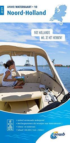 Waterkaart 10 Noord-Holland 1:50 000: Wasserkarte: WATERKAART 10 NOORD-HOLLAND 2019 por ANWB