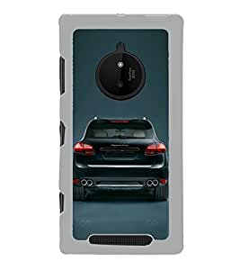 Fiobs Designer Back Case Cover for Nokia Lumia 830 (Multicolor Car Symbols)