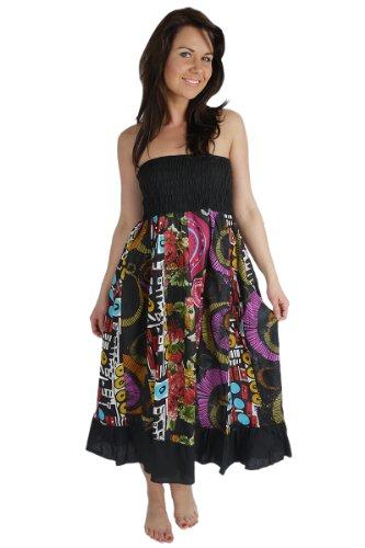 ufash Falda maxi o vestido patchwork con cinturilla elástica 44b4135facf5