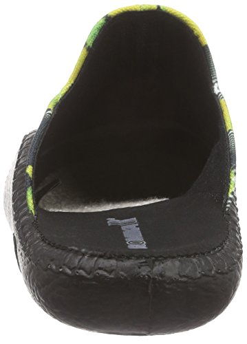 Romika Damen Mokasso 119 Pantoffeln Schwarz (schwarz-gelb 116)