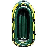 JIEXIAO Kayak Inflable, 3 Persona Pesca en Kayak Canoa Conjunto, de PVC de Doble Capa Espesada Plegable usable del Barco de Pesca Kayak para Adultos