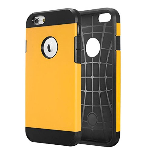 Für iPhone 6 / 6s, Hybrid PC + TPU Tough Armor Farbe Hard Case Cover DEXING ( Color : Orange ) Yellow
