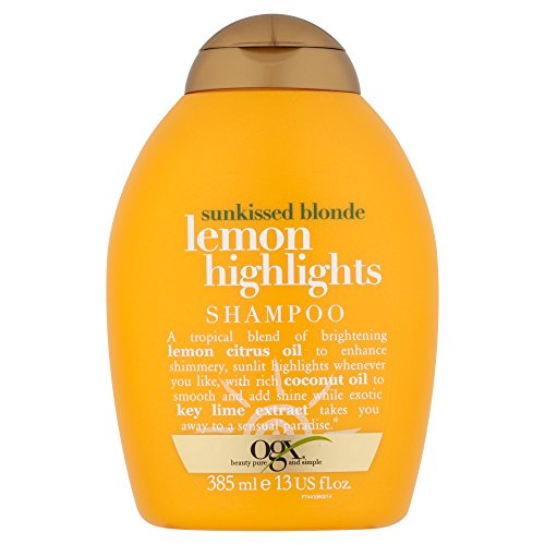 OGX Sunkissed Blonde Lemon Highligths Shampoo, 1er Pack (1 x 385 ml) -