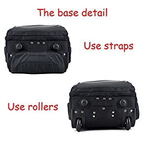 Removable Hand Trolley Luggage Backpack Trolley Bags, Rolling Backpacks 2 Wheels,Black