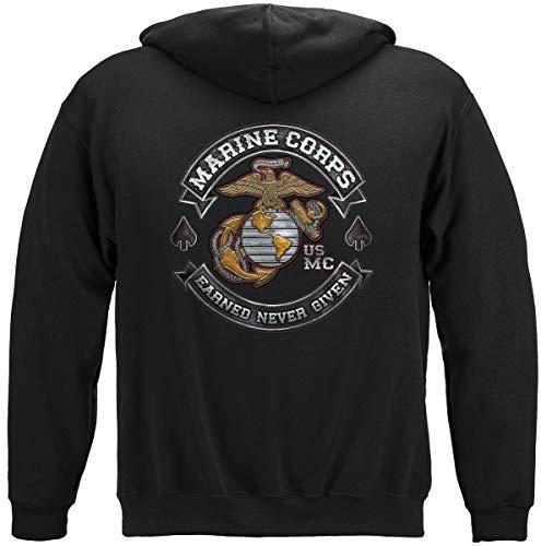 Marine Corps T-Shirt USMC Marine Corps Biker MC T-Shirt MM2398 - Schwarz - XX-Large -