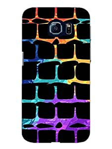 Samsung S6 Cover - Random Squares - Designer Printed Hard Shell Case