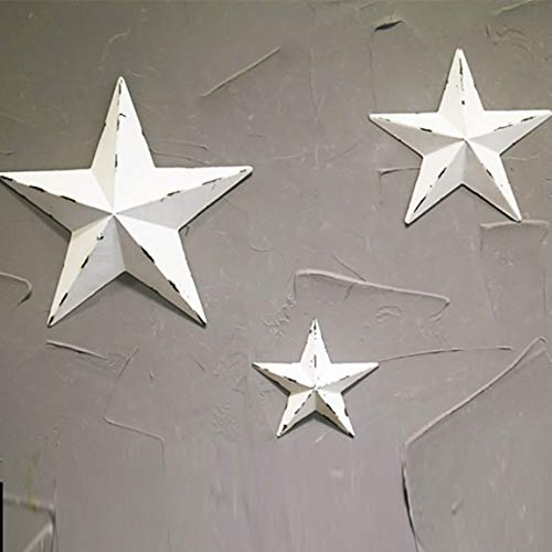 fghfhfgjdfj Vintage Eisen Handwerk fünfzackigen Stern Wand Party Dekoration 3D Sterne hängen Wand Bar Cafe Hintergrund Dekor Cafe Küche Dekor