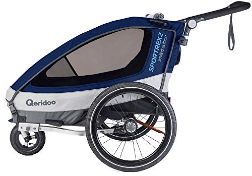 Qeridoo Sportrex 2 Limited Edition Kinderanhänger 2018, Farbe:Limited blau