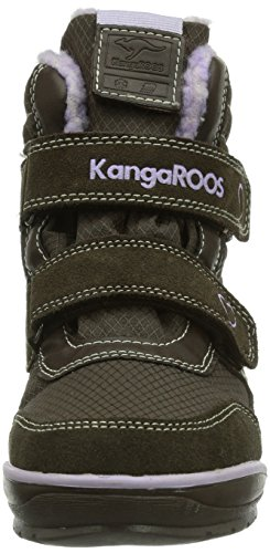 KangaROOS Kangasnowgirls 2019, Bottes mixte enfant Marron (Dk Brown/Lilac 368)