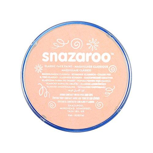 Snazaroo 1118500 Kinderschminke, hautfreundliche hypoallergene Gesichtschminke auf Wasserbasis, wasservermalbar, parabenfrei, hautfarben rosa, 18 ml (Fußball Fancy Dress Kostüme)