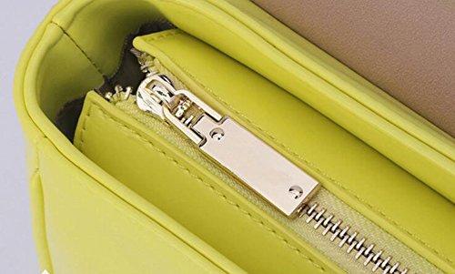 Einfache Paket Kuriertasche Mode Schultertasche Kleine Quadratische Tasche Nieten Pink