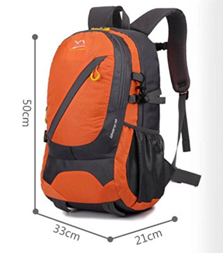 LQABW Zaino Da Equitazione Arrampicandosi All'aperto 35L Travel Sports Bag,Blue Orange
