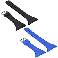 MagiDeal 2 pcs Replacement de Silicona Loopback Reloj Banda para Polar FT4 FT7 FT de Negro Azul